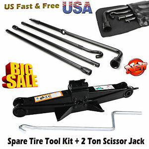 Repair Spare Tire Tool For Ford 2004 2014 F150 And Scissor Jack Black Steel Us