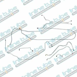 1969 Gto 442 Skylark Front Power Disc Brake Line Kit Set Tubes Convertible Ss