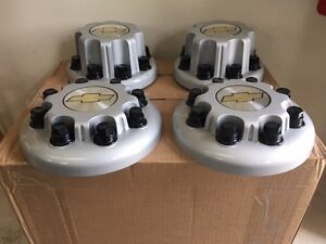 Chevy Dual Wheel Center Hub Caps Dually 4500 3500 16 8 Lug On 6 5 Steel Wheel