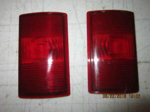 Lt Rt Rear Tail Light Lens Fits Willys Jeep Station Wagon 53 63