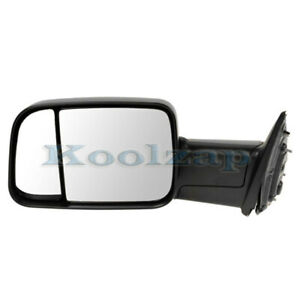 09 12 Ram Pickup Truck Manual Black Folding Flip Up Tow Mirror Left Driver Side