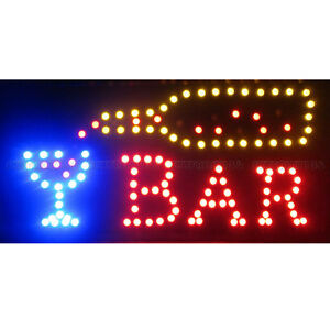 Animated Motion Led Restaurant Cafe Bar Sign On off Switch Open Light