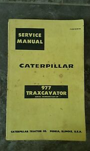 Caterpillar 977 Traxcavator Track Loader Service Manual S n 53a1 up