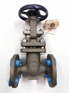 New Powell 2491 Flanged Gate Valve 0 5 1 2 150 Class 275wog 316 Stainless Steel