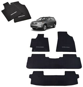 2011 2013 Highlander Floor Mats Set Black Carpet Genuine Toyota Pt919 48110 20