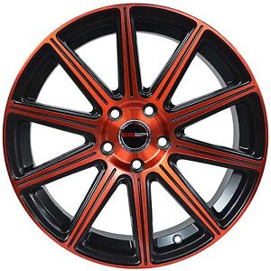 4 Gwg Wheels 20 Inch Red Mod Rims Fits Mitsubishi Evo 7 8 9 Widebody 2003 2007
