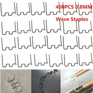 400x Standard Pre Cut 0 8mm Wave Hot Staples For Plastic Stapler Repair Welder