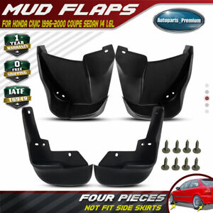 Fits Honda Civic 1996 2000 Coupe Sedan 4pcs Front Rear Splash Guards Mud Flaps