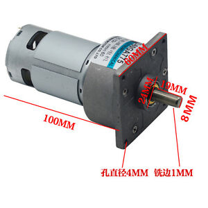 60ga775 Dc12v 24v 35w Micro Dc Geared Motor Large Torque Adjustable Speed Motor