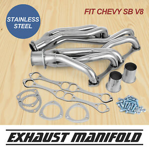 Fits Chevy Small Block Sb V8 Stainless Steel Headers 262 265 283 305 327 350 400