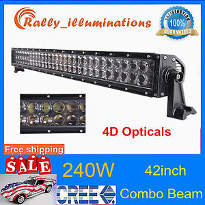 42 240w Cree Led Light Spot Flood Car Driving Jeep Lamp Suvoffroad 4d Opticals