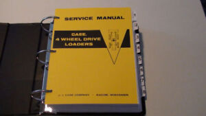 Case W7 Four Wheel Drive 4x4 Loader Service Manual Repair Shop Book New W binder