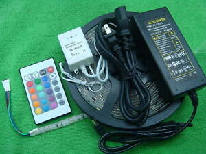 5 5m 5050 Smd Rgb Led Strip Controller Power Supply