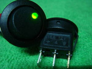 50 Green Led Light 12v Car Rocker Off on Spst Switch