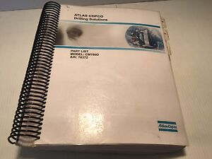 Atlas Copco Cm780d Hydraulic Track Drill Parts List Book Manual
