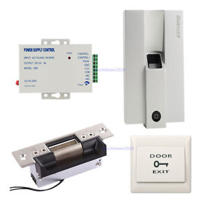 Metal Bio Fingerprint Door Access Control Tamper Alarm Systems ansi Strike Lock
