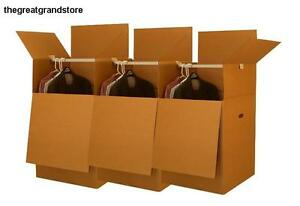Wardrobe Moving Boxes Hanging Clothes Stored Packing Storing Move Bundle Duty