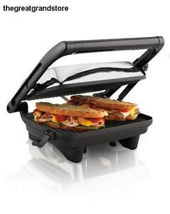Press Sandwich Maker Toaster Panini Grill Gourmet Cooking Breakfast Lid Power