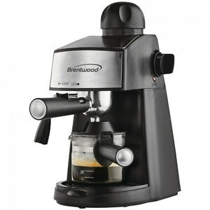Brentwood Ga 125 Espresso Latte Cappuccino Maker Stainless Machine Black