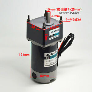 Dc12v 24v 40w 4d40gn c Gear Motor With Gear Head Adjustable Speed Motor Cw ccw