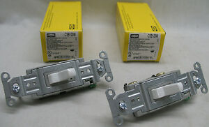 Lot Of 2 Hubbell Csb120w Toggle Light Switch White