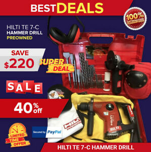 Hilti Te 7 c Hammer Drill Preowned Free Grinder Bits Extras Quick Ship