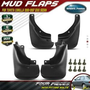 4x Front Rear Splash Guard Mud Flaps For Toyota Corolla 1993 1996 1997 Sedan