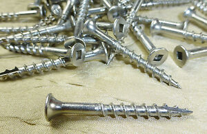Stainless Steel Deck Screws Square Drive Wood 8 X 1 5 8 Qty 1000 Screws