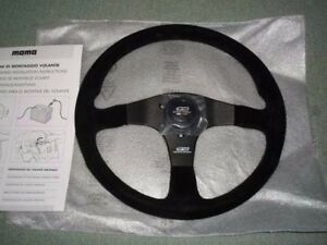 Jdm Oem Mugen Power Honda Steering Wheel Momo Buckskin 350mm Genuine Civic Typer