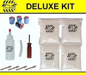 E Z Tire Balance Beads Deluxe Kit 4x3 Oz 12 Total Applicator Filtered Cores Caps