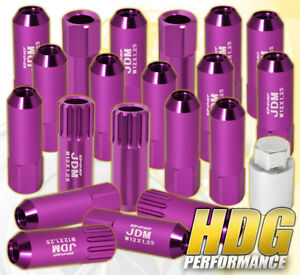 For Subaru 12x1 25mm Locking Lug Nuts Time Attack Tuner Wheels Rims 20pc Purple