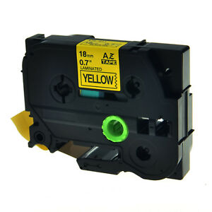20pk Tz 641 Tze 641 18mm Black On Yellow Label Tape For Brother P
