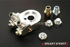 Circuit Sports Billet Aluminum Thermostatic Oil Cooler Kit Angled Adapter