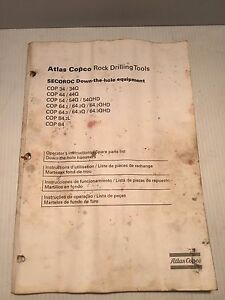 Atlas Copco Rock Drill Cop34 84 Operators Instruction And Parts Book