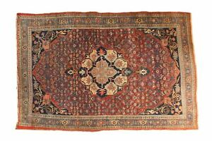 5x7 Antique Fine Halvaie Bijar Carpet