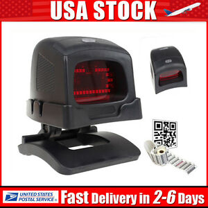 Automatic Barcode Scanner Usb Fast Scan Bar Code Reader With Holder Portable Pos