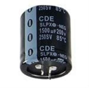 5 Aluminum Electrolytic Capacitors Snap In 2200uf 100v 20 85c