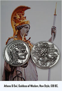 Athena Goddess Of Wisdom With Owl And Amphora Coin 83 S Version 3 New Style