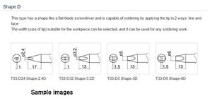 Hakko T33 Series Soldering Tips Shape D T33 d5 Official Products