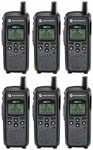 6 Motorola Dtr410 Digital 900mhz Two Way Radios