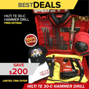 Hilti Te 30 c Hammer Preowned Free 8 Survival Knife Bits Extras Quick Ship