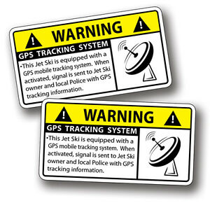 Gps Anti Theft Jet Ski Security System Warning Alarm Safety Sticker Vinyl Decal