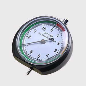 Stainless Steel Tire Tyre Pressure Tread Depth Gauge Pointer Indicator Clever