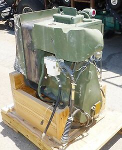 New Auxiliary Power Unit Onan Diesel Generator 24v Military Refurbished 300 Amp