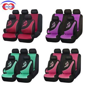 Universal Car Seat Covers Mesh Breatherable Butterfly Embroidery Washable Lady