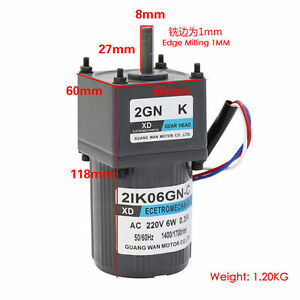 Ac220v 6w 0 35a 2ik06gn c Constant Speed Single Phase Gear Motor With Capacitor