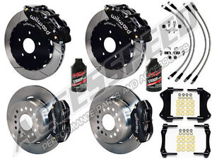 2005 2014 Ford Mustang Wilwood Front Rear Big Brake Combo with Lines Fluid