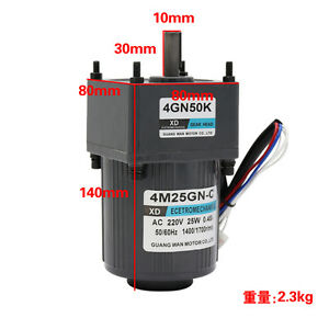 4m25gn c Ac220v 25w Single Phase Gear Motor Adjustable Speed Cw ccw With Governo