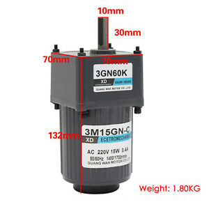 Ac220v 15w 3m15gn c Single Phase Gear Motor Adjustable Speed Motor With Governor