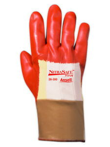 Ansell Nitrasafe Foam 28350 Nitrile Coated Gloves 12 Pairs